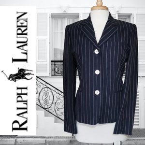 Ralph Lauren Linen-blend Pinstriped Blazer/Jacket